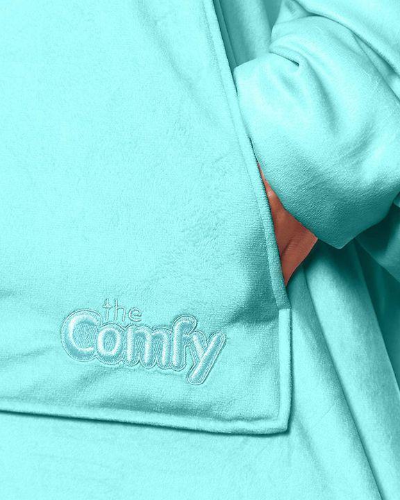 Maple Leaf Print Kangaroo Pocket Thermal Wearable Blanket Coat gallery 10