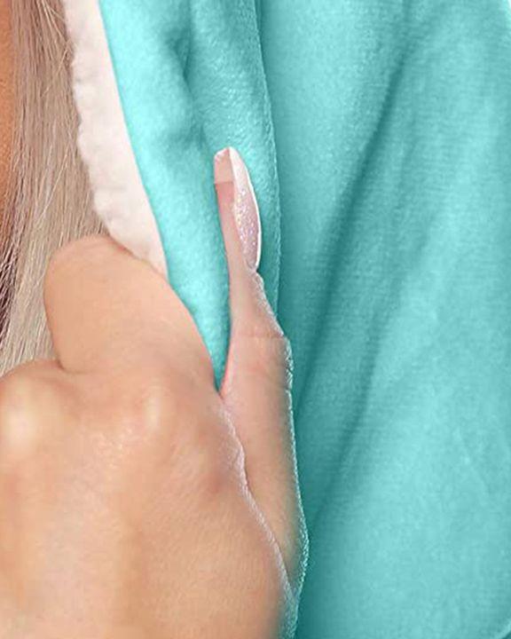 Maple Leaf Print Kangaroo Pocket Thermal Wearable Blanket Coat gallery 9