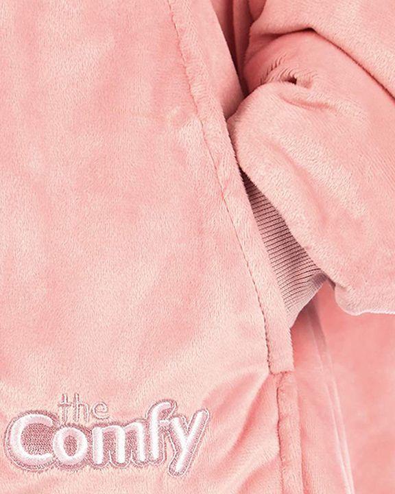 Maple Leaf Print Kangaroo Pocket Thermal Wearable Blanket Coat gallery 26