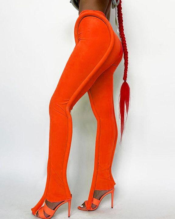 High Waist Asymmetrical Skinny Pants gallery 3