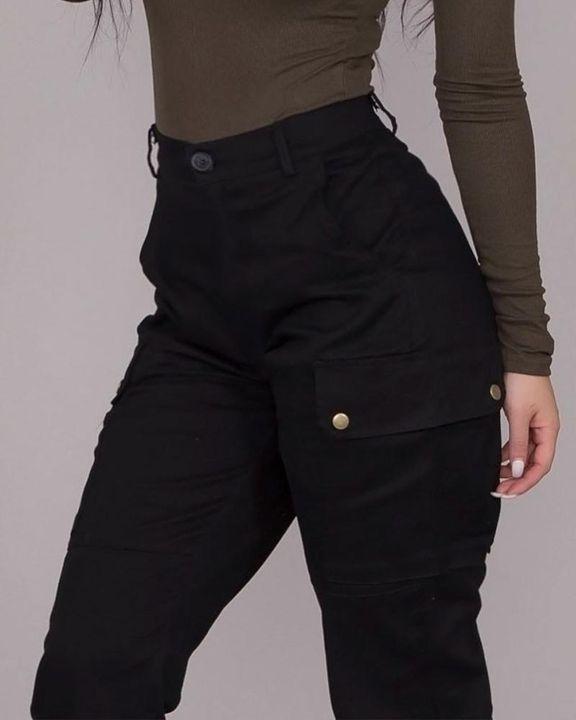 Studded Flap Pocket High Waist Pants gallery 6