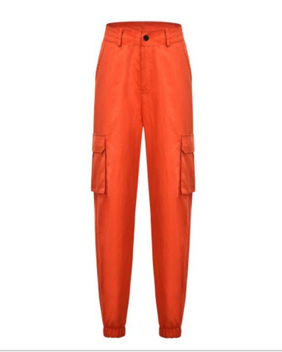 Studded Flap Pocket High Waist Pants gallery 2
