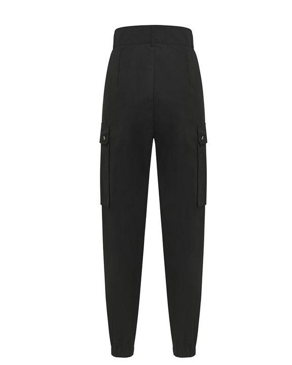 Studded Flap Pocket High Waist Pants gallery 7