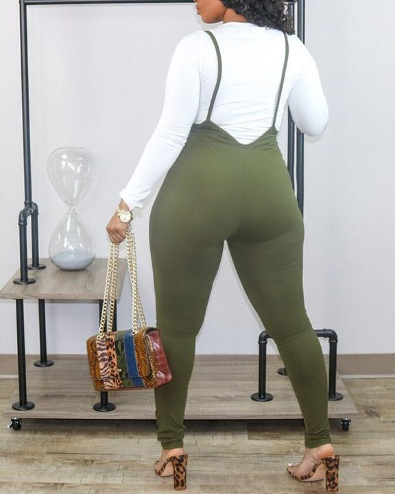 High Waist Suspender Skinny Pants Without Top gallery 5