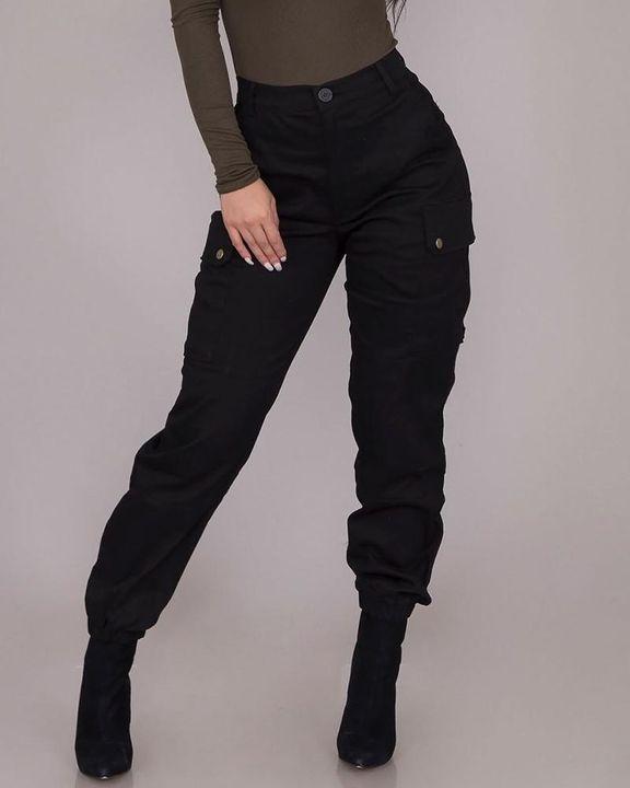 Studded Flap Pocket High Waist Pants gallery 1
