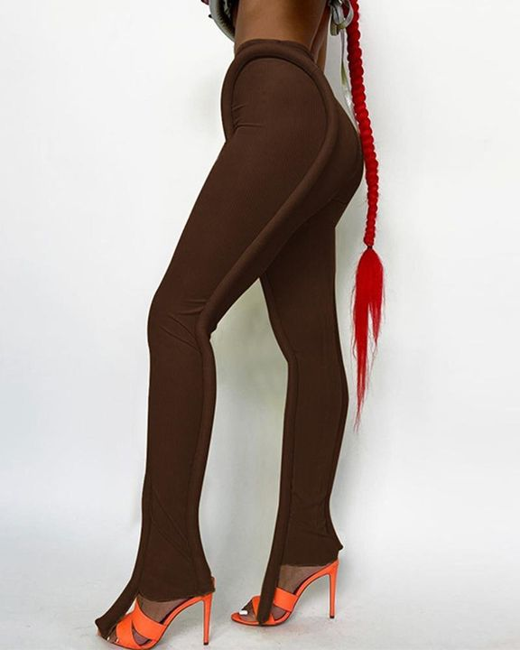 High Waist Asymmetrical Skinny Pants gallery 4