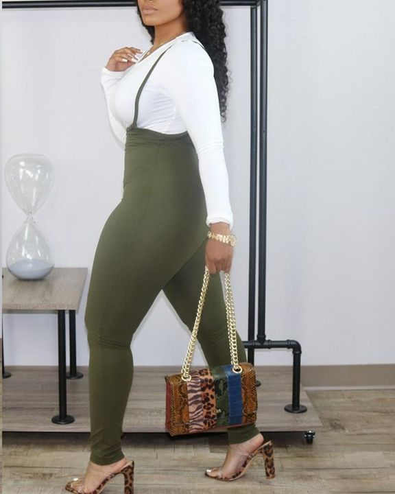 High Waist Suspender Skinny Pants Without Top gallery 4