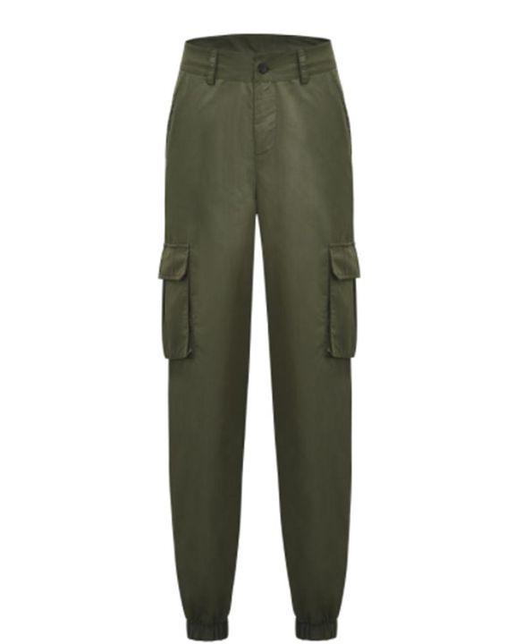 Studded Flap Pocket High Waist Pants gallery 3