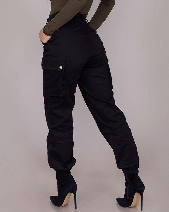 Studded Flap Pocket High Waist Pants gallery 5