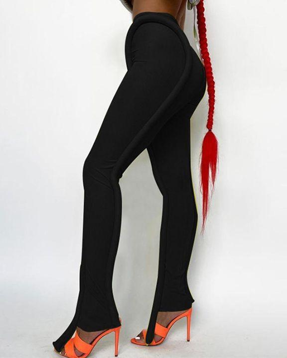 High Waist Asymmetrical Skinny Pants gallery 2
