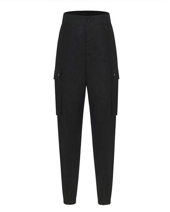 Studded Flap Pocket High Waist Pants gallery 8