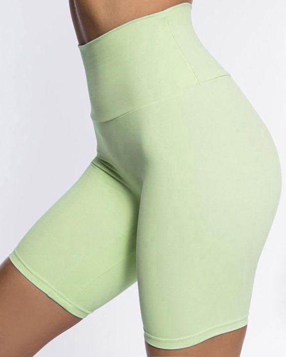 Solid High Waist Butt Lifting Sports Shorts gallery 8