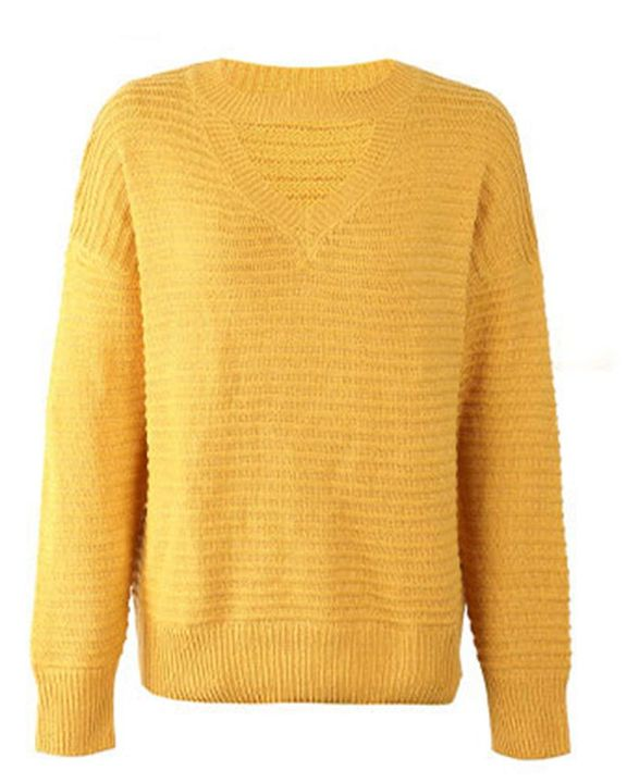 Keyhole Neck Drop Bishop Sleeve Sweater gallery 6