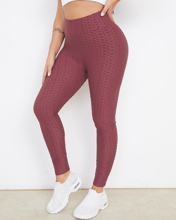 Bow Tie Back Textured Ruched Sports Leggings gallery 16