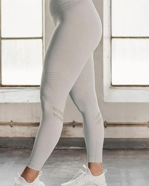 Hollow Out Wide Waistband Seamless Butt Lifting Sports Leggings gallery 8