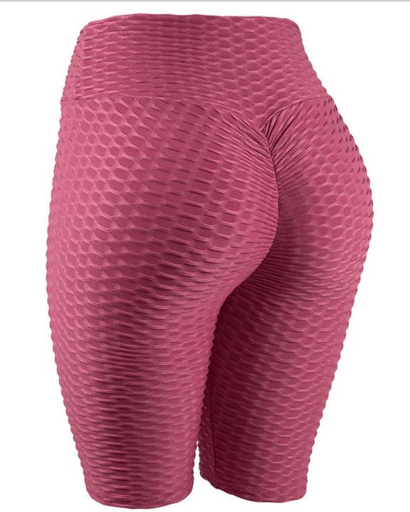 High Waist Ruched Textured Sports Shorts gallery 11