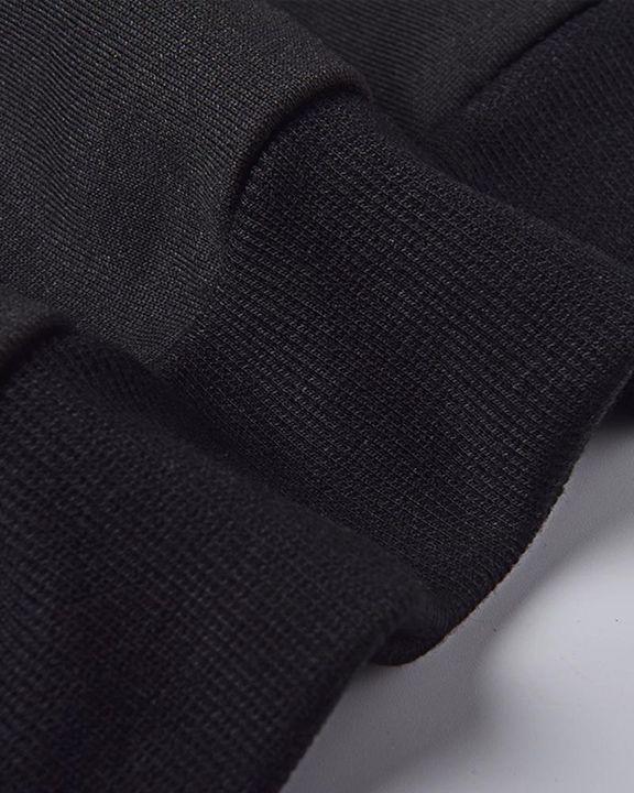 Letter Print Drawstring Waist Slant Pocket Sweatshirt & Pants Set gallery 3