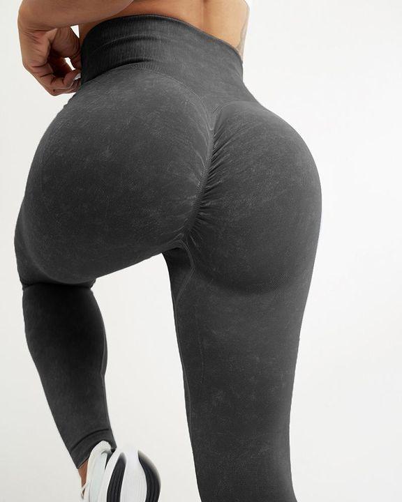 Scrunch Butt Seamless Wide Waistband Sports Leggings gallery 2