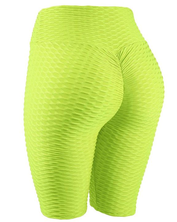 High Waist Ruched Textured Sports Shorts gallery 9