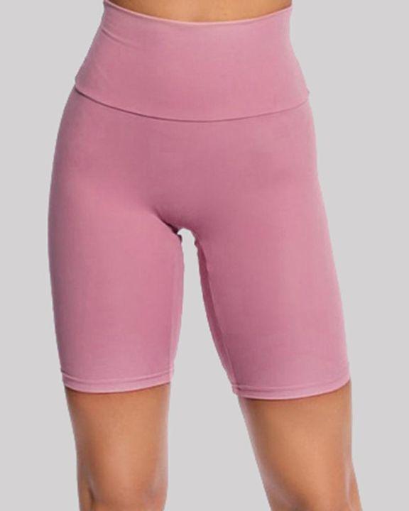 Solid High Waist Butt Lifting Sports Shorts gallery 6