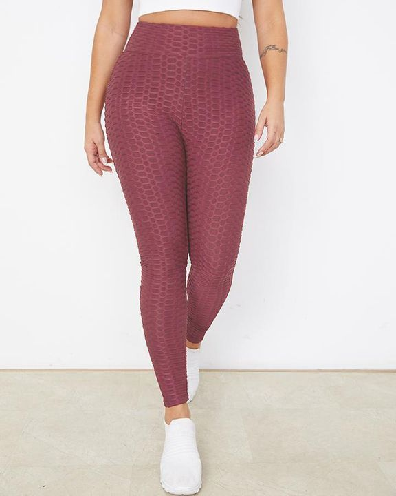 Bow Tie Back Textured Ruched Sports Leggings gallery 15