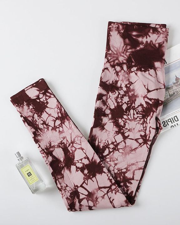 Tie Dye Scrunch Butt Hip Lifting Breathable Sports Leggings gallery 6