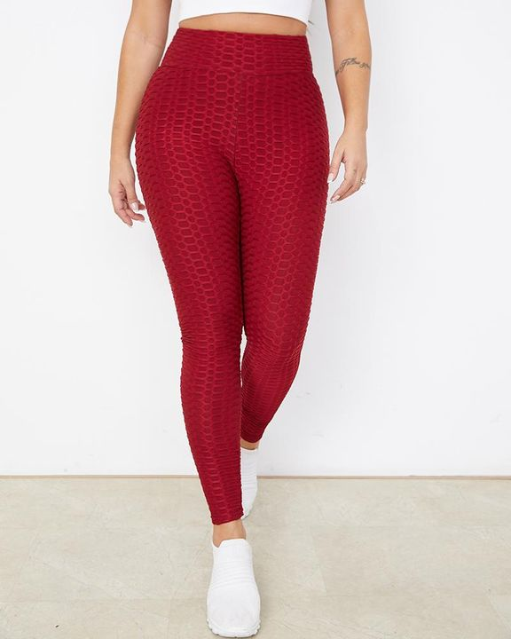 Bow Tie Back Textured Ruched Sports Leggings gallery 2
