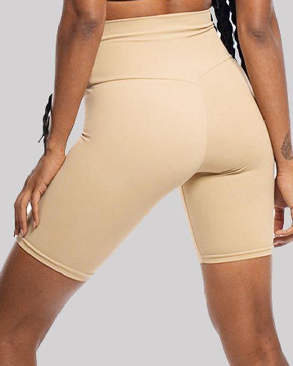 Solid High Waist Butt Lifting Sports Shorts gallery 13