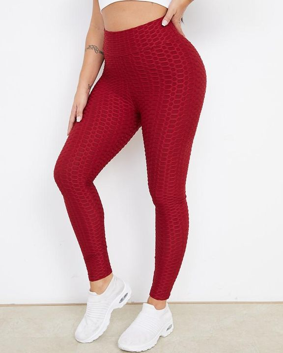 Bow Tie Back Textured Ruched Sports Leggings gallery 3