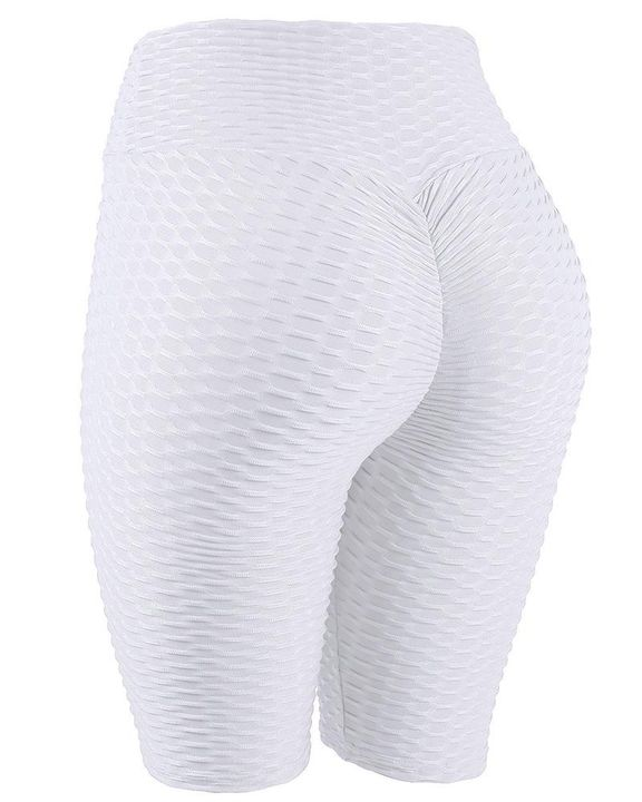 High Waist Ruched Textured Sports Shorts gallery 1