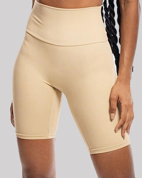 Solid High Waist Butt Lifting Sports Shorts gallery 5