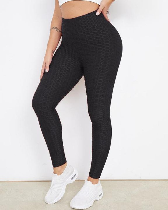 Bow Tie Back Textured Ruched Sports Leggings gallery 11