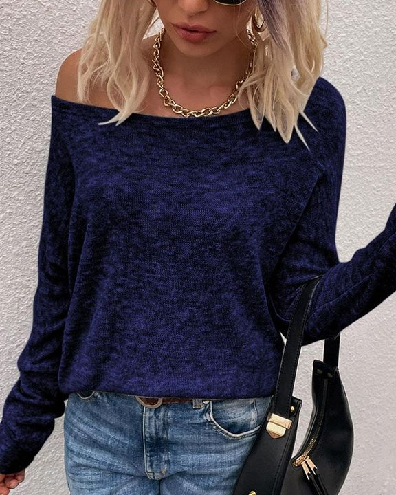 Solid Long Sleeve Boat Neck Top gallery 5