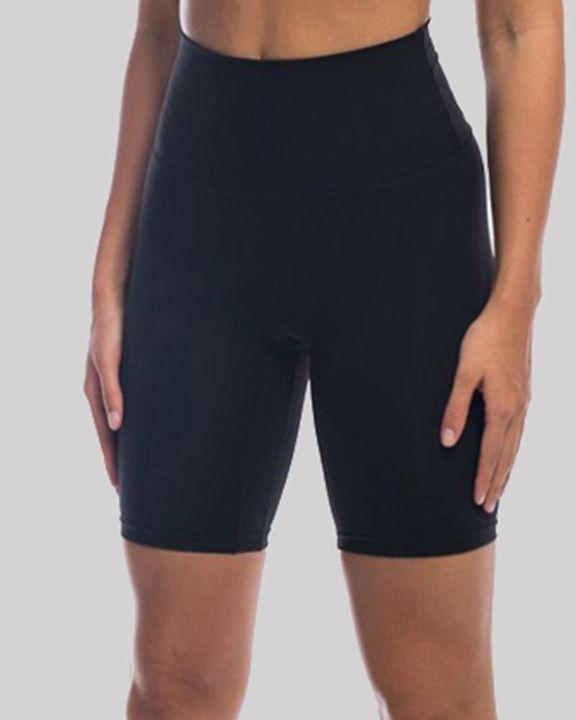 Solid High Waist Butt Lifting Sports Shorts gallery 3