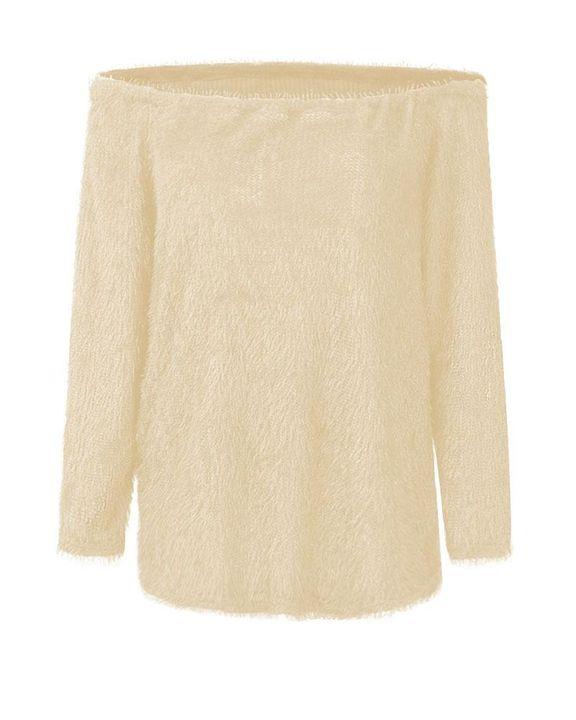 Popcorn Knit Off Shoulder Drop Shoulder Sweater gallery 5