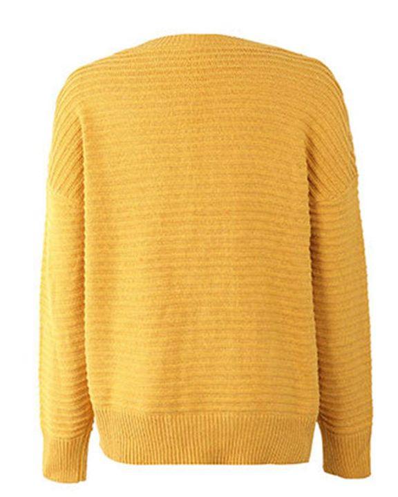 Keyhole Neck Drop Bishop Sleeve Sweater gallery 7