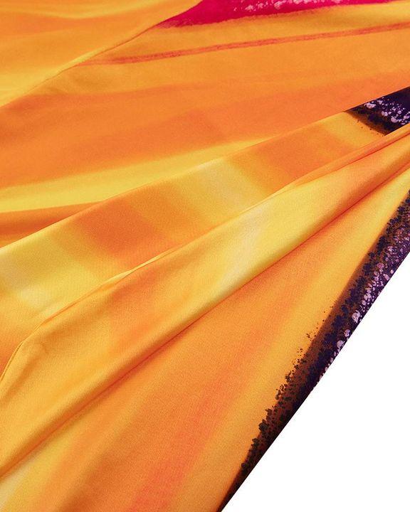 Allover Print Draped Asymmetrical Hem Cami Maxi Dress gallery 7