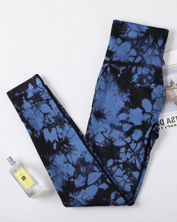 Tie Dye Scrunch Butt Hip Lifting Breathable Sports Leggings gallery 5