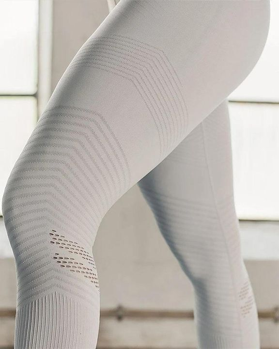 Hollow Out Wide Waistband Seamless Butt Lifting Sports Leggings gallery 9