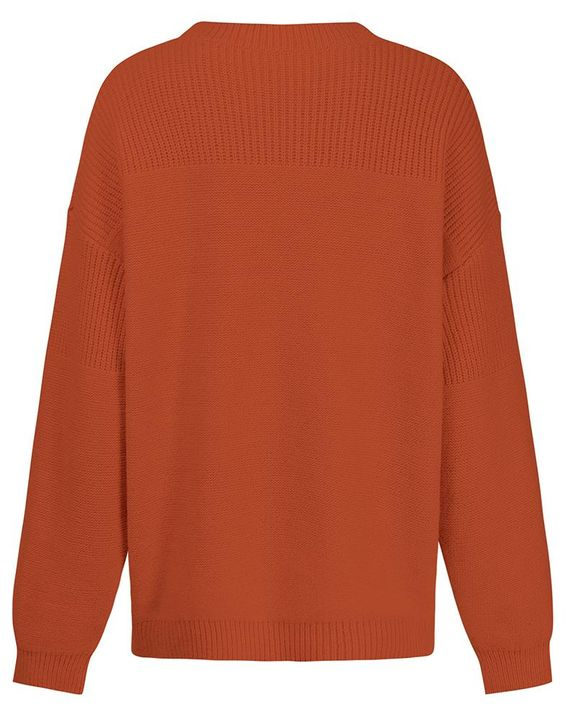 Solid Rib-Knit Round Neck Sweater gallery 9