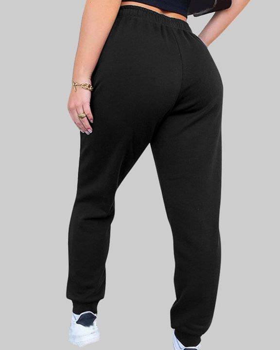 Drawstring Waist Thermal Lined High Waist Joggers gallery 7