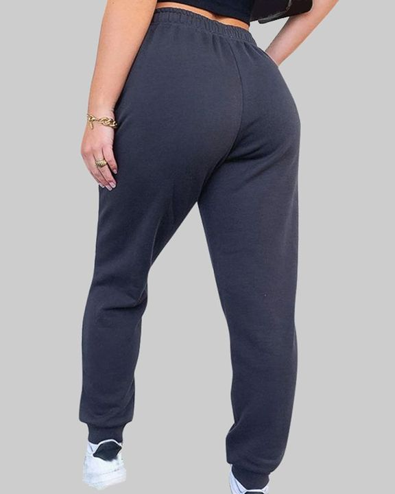 Drawstring Waist Thermal Lined High Waist Joggers gallery 6