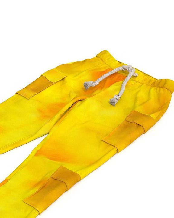 Flap Pocket Split Hem Rope Detail Cargo Pants gallery 6
