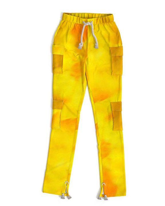 Flap Pocket Split Hem Rope Detail Cargo Pants gallery 5