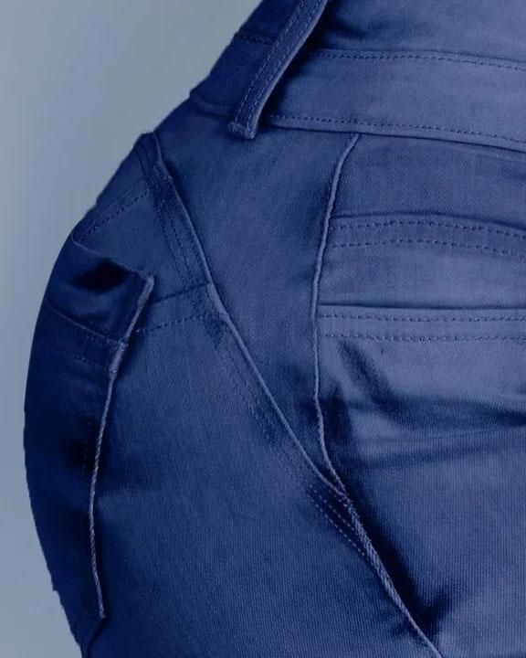 Button Front Butt Lifting Flare Jeans gallery 13