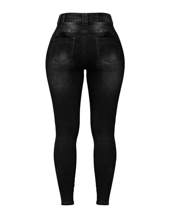 Extreme Distressed High Waist Skinny Jeans gallery 23