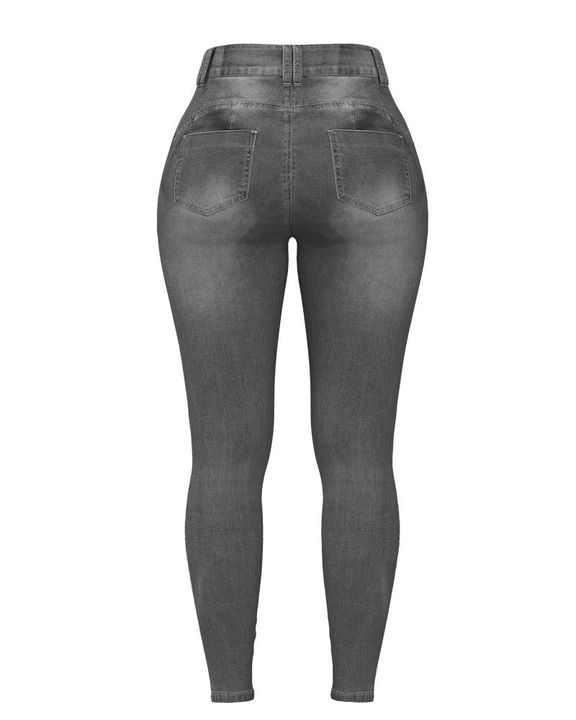 Extreme Distressed High Waist Skinny Jeans gallery 29