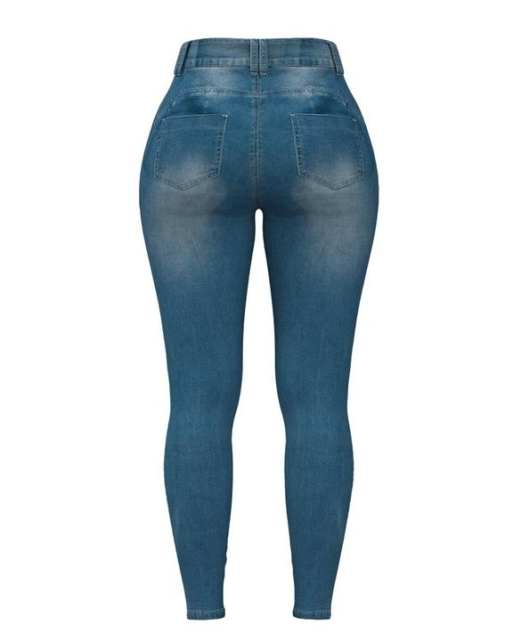 Extreme Distressed High Waist Skinny Jeans gallery 12