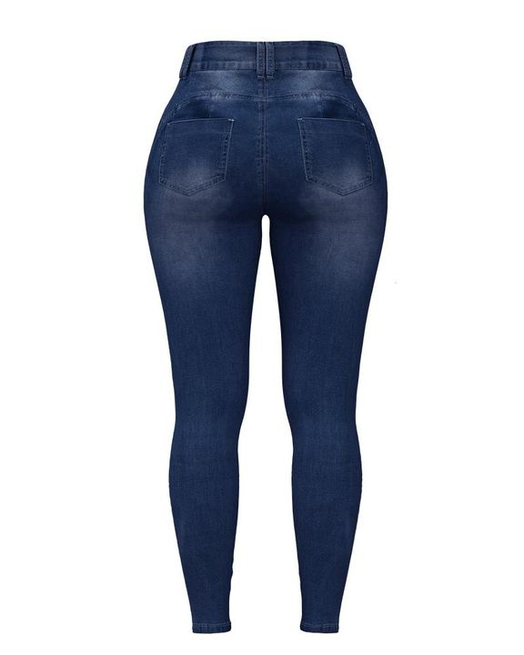 Extreme Distressed High Waist Skinny Jeans gallery 17