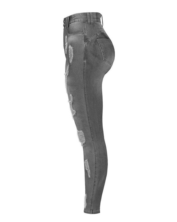 Extreme Distressed High Waist Skinny Jeans gallery 28